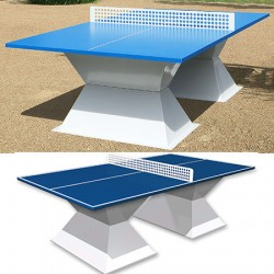 Table de ping pong antichoc espaces publics plateau HD 35 mm bleu foncé