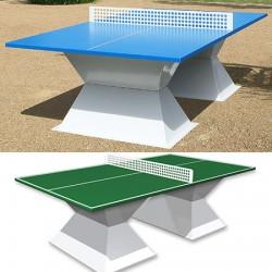 Table de ping pong antichoc espaces publics plateau HD 35 mm vert