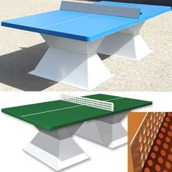 Table de ping pong antichoc espaces publics plateau HD 60 mm vert