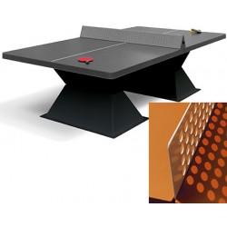 Table de ping pong antichoc espaces publics plateau HD 60 mm anthracite