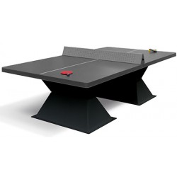 Table de ping pong antichoc espaces publics plateau HD 60 mm filet sécurit anthracite