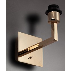 Applique Carioca dorée avec cache douille et interrupteur