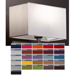 Abat-jour rectangle plat E27 tissu chintz 50x20x25 cm