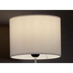 Abat-jour cylindre E27 tissu lavable silk blanc 40x40x24 cm