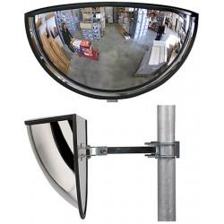 Miroir multi-usages panoramiques 1/2 vision 180° diam. 900 mm garantie 6 ans