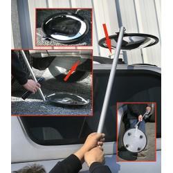 Miroir d'inspection 3 roulettes diam 340 mm