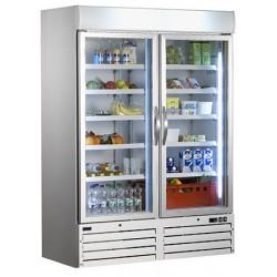 Armoire réfrigérée ventilée 1 portes cristal 1078 l