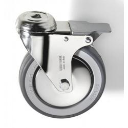 Kit de 4 roues avec freins pour base de four