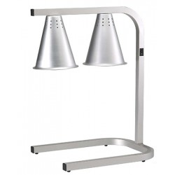 Lampe chauffante double sur pied GN1/1 en aluminium