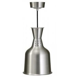 Lampe chauffante abat-jour aluminium diam 18,4 x H28,8 cm
