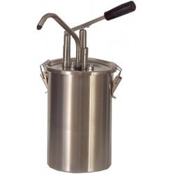 Distributeur de sauces inox avec piston 4,5 l