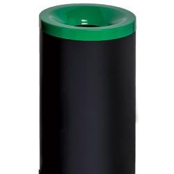 Corbeille antifeu Nina acier 50 l vert