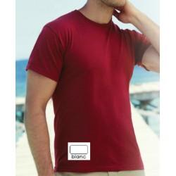Lot de 100 tee-shirts col rond standard blanc 150 g