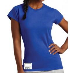 Lot de 100 tee-shirts femme col rond standard blanc 150 g