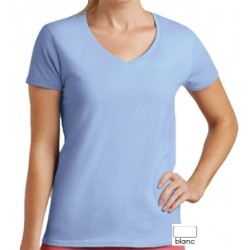 Lot de 100 tee-shirts femme col V standard blanc 190 g