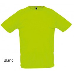 Lot de 50 tee-shirts polyester respirant blanc 140 g 3XL