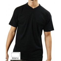 Tee-shirt col V blanc 150 g