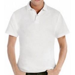 Polo coton blanc 180 g