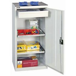 Armoires d'atelier avec 1 tiroir et 2 tablettes L50 x P50 x H100 cm