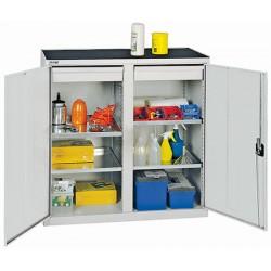 Armoires d'atelier avec 2 tiroirs et 4 tablettes L100 x P50 x H100 cm
