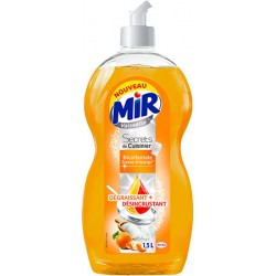 Lot de 6 flacons de 1,5L Mir secrets de cuisiner bicarbonate ecorce d'orange
