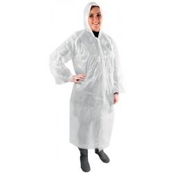 Colis de 400 blouses visiteur blanche PE taille standard avec capuche