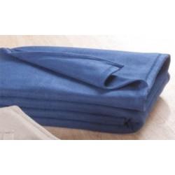 Lot de 8 couvertures polaires Bleu 180x220 cm