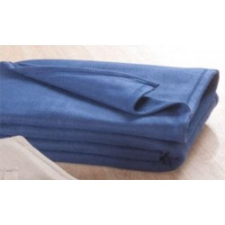 Lot de 8 couvertures polaires Bleu 220x240 cm