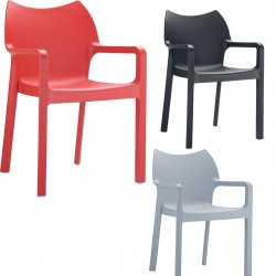 Fauteuil empilable Diva