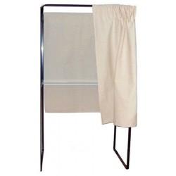 Isoloir case départ rideau coton écru