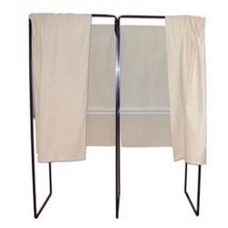 Isoloir case suivante rideau coton écru
