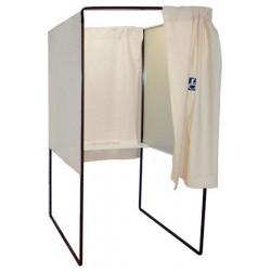 Isoloir case handicvapé PMR rideau coton écru