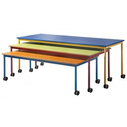 Table gigogne mobile mélaminé 160 x 80 cm Taille 2