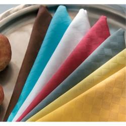 Nappe damassée 100% coton 160x210 cm avec 6 serviettes