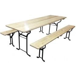 Table brasserie tube rond 220 x 80 cm