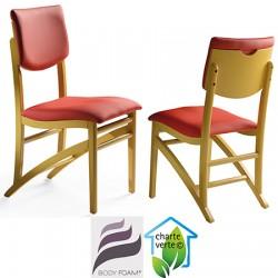 Chaise bois Althéa assise et dossier garnis tissu 1