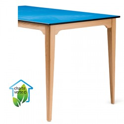 Table de restauration 4 pieds Violette bois plateau Top Resist 120x80xh75 cm