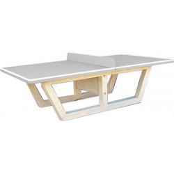 Table de ping pong en béton gris naturel