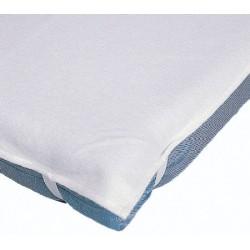 Protège matelas plateau molleton coton enduit 340g 90x190 cm