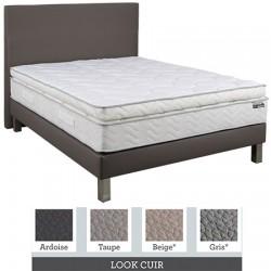 Tête de lit finition lisse tissu premium ou similicuir L140xH115 cm