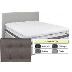 Tête de lit finition capitonnée déco L180xH115 cm