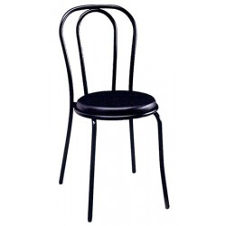 Chaise Bistro assise PVC noire thermosoudée