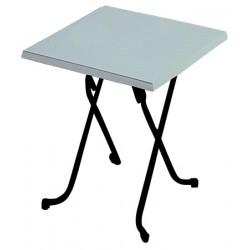 Table pliante Lorraine stratifié moulé blanc 60x60 cm