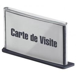 10 Plaques de signalisation carte de visite anthracite