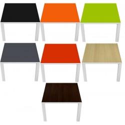 Table d'accueil Design personnalisée ou couleur 60x60 cm