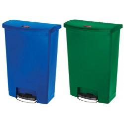 Collecteur à pédale HACCP Slimjim StepOn large 50 L bleu ou vert