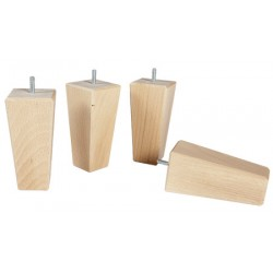 Pied bois naturel forme fuseau H15 cm