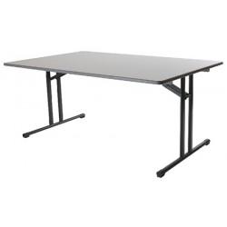 Table pliante Auvergne mélaminé chant antichoc 120x80 cm