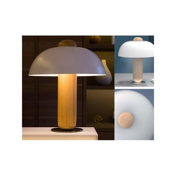 Chevet Et Hêtre Clochette Lampe Blanc De Naturel 2EDeWYH9I