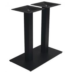 Piétement de table intérieur Entry double acier noir